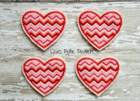 Chevron Valentine's Day Hearts
