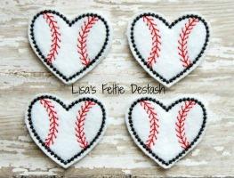 Heart Baseballs