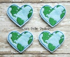 Heart Earth Felties
