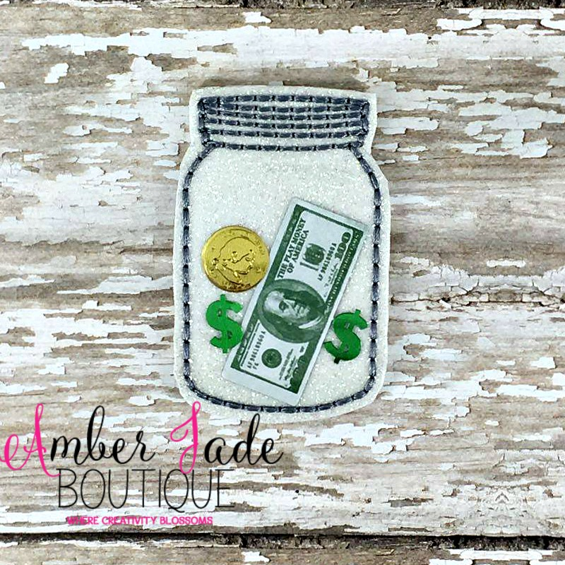 Confetti Glitter Mason Jar with Money